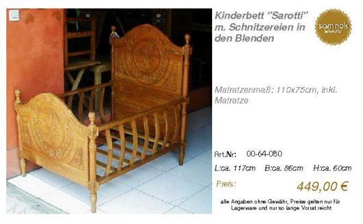 00-64-080-Kinderbett _Sarotti_ m. Sch