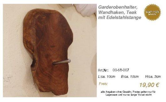 00-68-007-Garderobenhalter, Wandhaken _sam nok