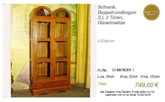 00-MANDIRI-1-Schrank, Doppelrundbogen (L