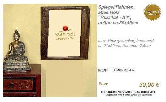 01-42-023-A4-Spiegel_Rahmen, altes Holz_sam nok