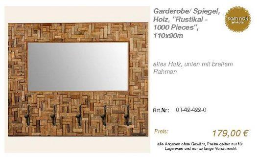 01-42-422-0-Garderobe_ Spiegel, Holz, _ _sam nok