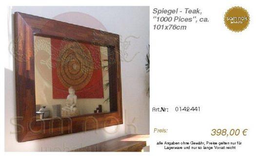01-42-441-Spiegel - Teak, _1000 Pices_sam nok