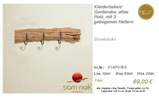 01-47-018-3-Kleiderhaken_ Garderobe, al _sam nok