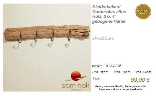 01-47-018-Kleiderhaken_ Garderobe, al _sam nok