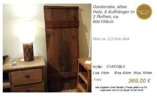 01-47-022-0-Garderobe, altes Holz, 8 Au _sam nok