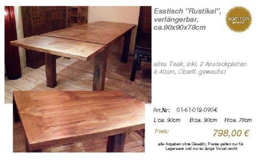 01-61-012-090-E-Esstisch _Rustikal_, verlän_sam nok