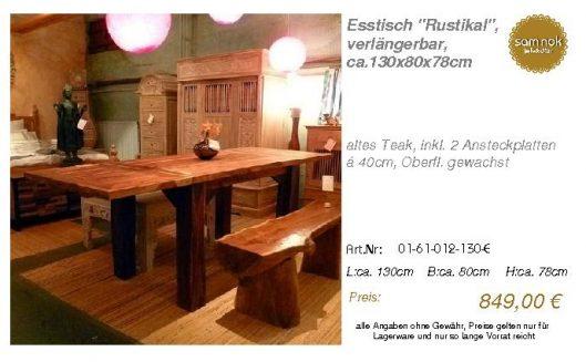 01-61-012-130-E-Esstisch _Rustikal_, verlän_sam nok