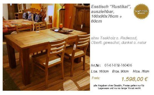 01-61-012-160-EI6-Esstisch _Rustikal_, auszie_sam nok