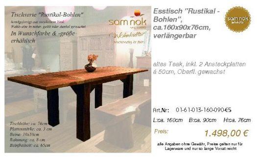 01-61-013-160-090-E5-Esstisch _Rustikal - Bohlen_sam nok