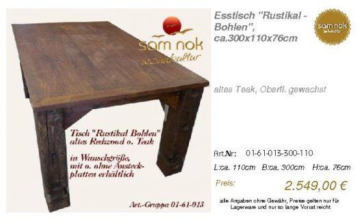 01-61-013-300-110-Esstisch _Rustikal - Bohlen_sam nok