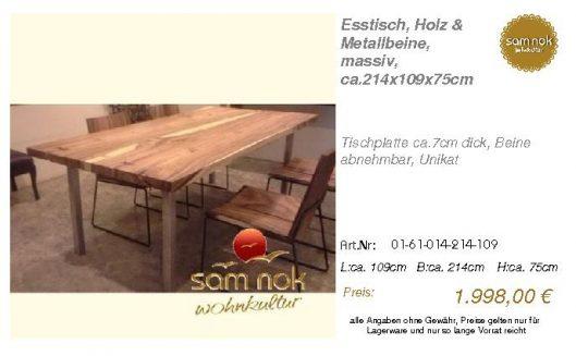 01-61-014-214-109-Esstisch, Holz & Metallbein_sam nok