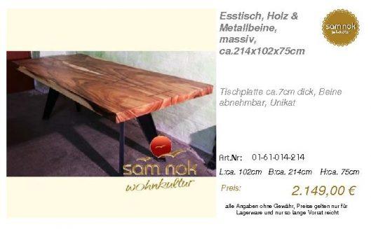01-61-014-214-Esstisch, Holz & Metallbein_sam nok