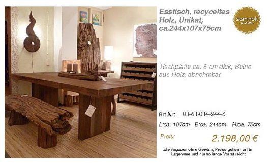 01-61-014-244-3-Esstisch, recyceltes Holz,_sam nok