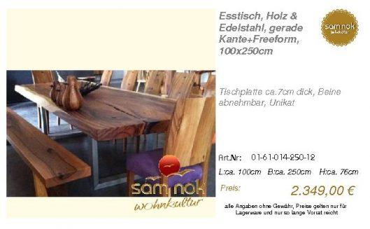 01-61-014-250-12-Esstisch, Holz & Edelstahl,_sam nok