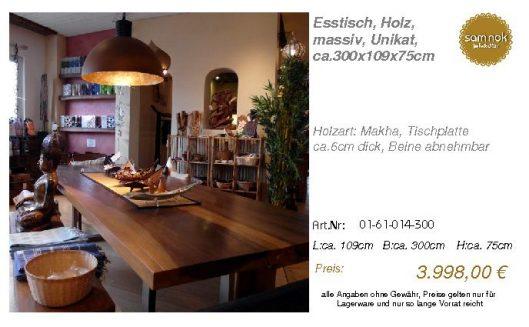 01-61-014-300-Esstisch, Holz, massiv, Uni_sam nok