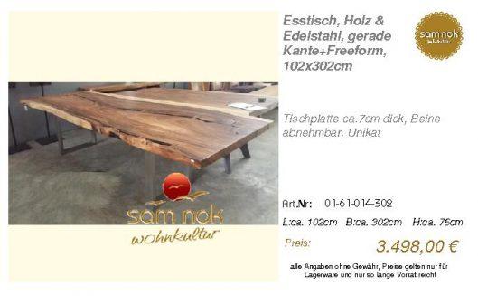 01-61-014-302-Esstisch, Holz & Edelstahl,_sam nok