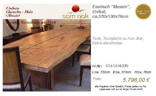 01-61-014-370-Esstisch _Massiv_, Unikat,_sam nok