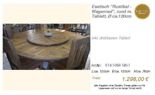 01-61-059-120-1-Esstisch _Rustikal - Wagenr_sam nok