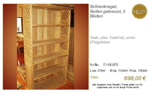 01-62-203-Schrankregal, Seiten gekreu
