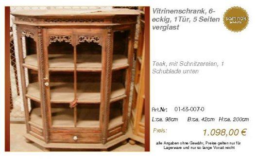 01-63-007-0-Vitrinenschrank, 6-eckig, 1