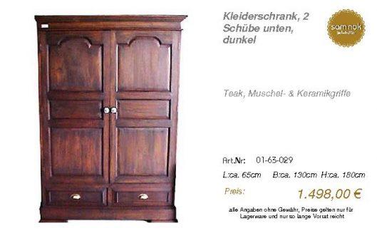 01-63-029-Kleiderschrank, 2 Schübe un