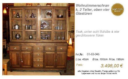 01-63-046-Wohnzimmerschrank, 2 Teiler
