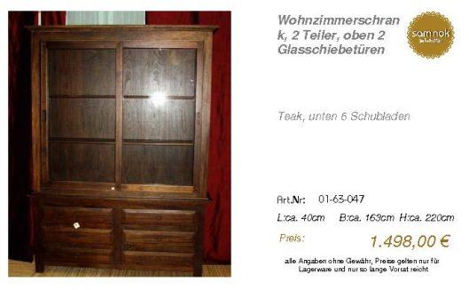 01-63-047-Wohnzimmerschrank, 2 Teiler