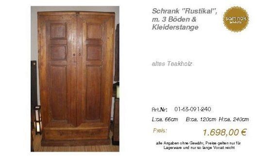 01-63-091-240-Schrank _Rustikal_, m. 3 Bö