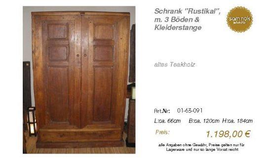 01-63-091-Schrank _Rustikal_, m. 3 Bö