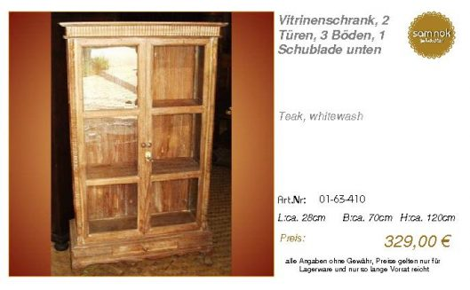 01-63-410-Vitrinenschrank, 2 Türen, 3