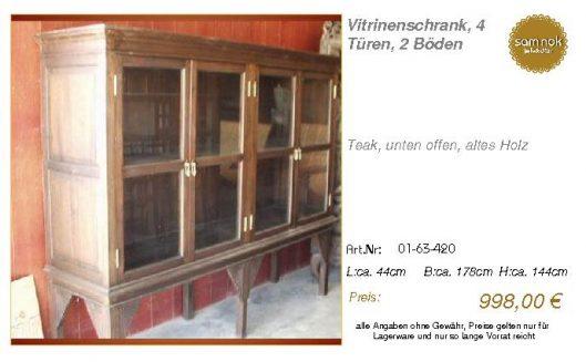 01-63-420-Vitrinenschrank, 4 Türen, 2