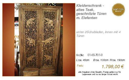 01-63-701-0-Kleiderschrank - altes Teak