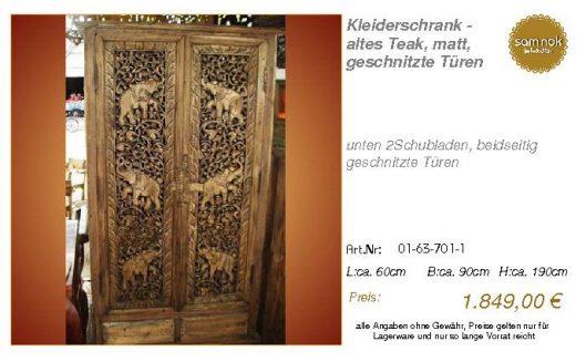 01-63-701-1-Kleiderschrank - altes Teak