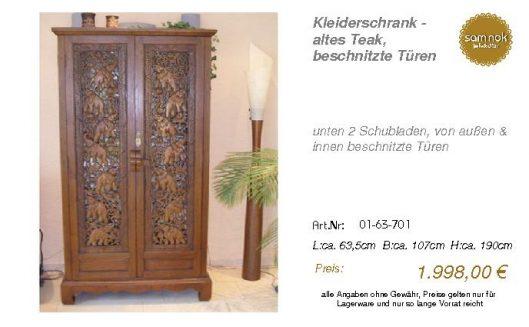 01-63-701-Kleiderschrank - altes Teak