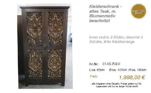 01-63-702-0-Kleiderschrank - altes Teak