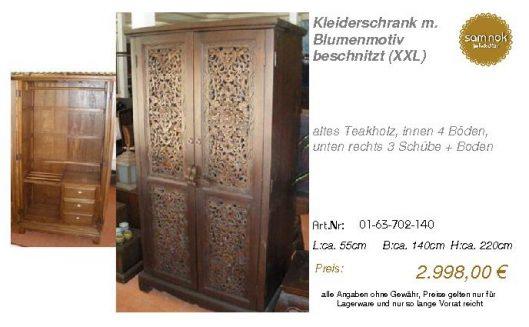 01-63-702-140-Kleiderschrank m. Blumenmot