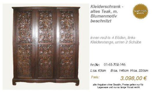 01-63-702-146-Kleiderschrank - altes Teak