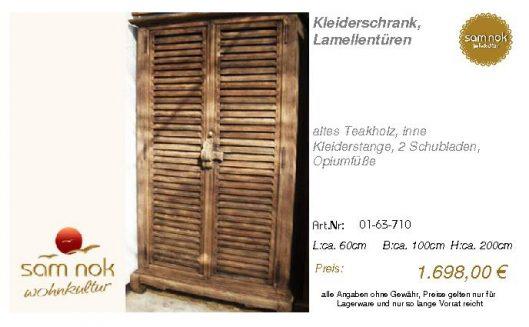 01-63-710-Kleiderschrank, Lamellentür