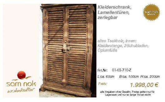 01-63-710-Z-Kleiderschrank, Lamellentür