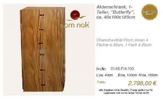 01-63-716-100-Aktenschrank, 1-Teiler, _Bu
