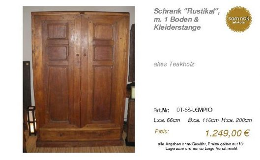 01-63-LEMPIO-Schrank _Rustikal_, m. 1 Bo