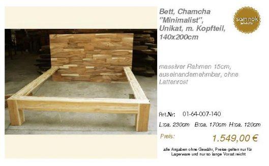 01-64-007-140-Bett, Chamcha _Minimalist_,