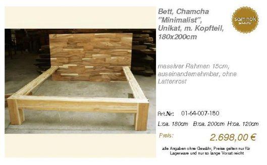 01-64-007-180-Bett, Chamcha _Minimalist_,