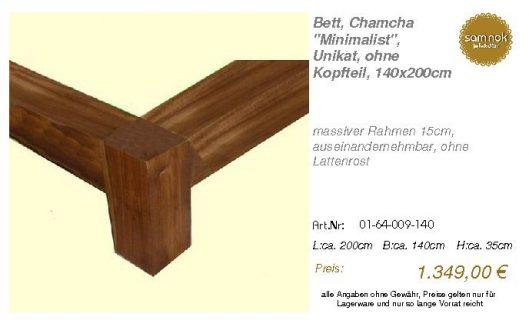 01-64-009-140-Bett, Chamcha _Minimalist_,