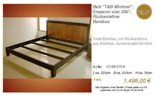 01-64-010-4-Bett _T&B Minimal_, Emperor