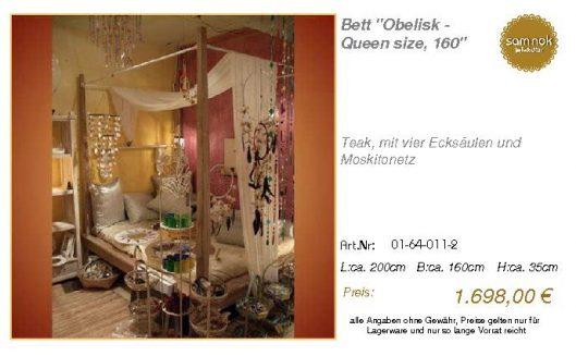 01-64-011-2-Bett _Obelisk - Queen size,