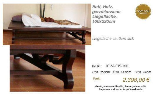 01-64-015-160-Bett, Holz, geschlossene Li