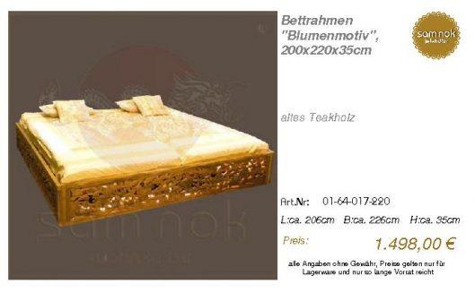 01-64-017-220-Bettrahmen _Blumenmotiv_, 2