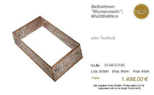 01-64-017-90-Bettrahmen _Blumenmotiv_, 9