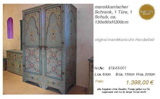 212-63-001-marokkanischer Schrank, 1 T